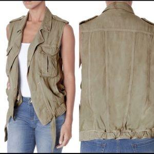 Kensie Jeans Khaki Utility Vest